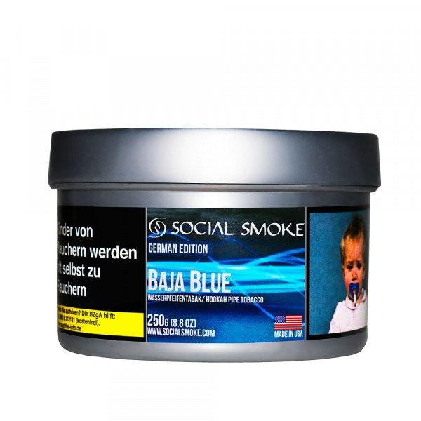 Social Smoke Tobacco 250g - BAJA BLUE