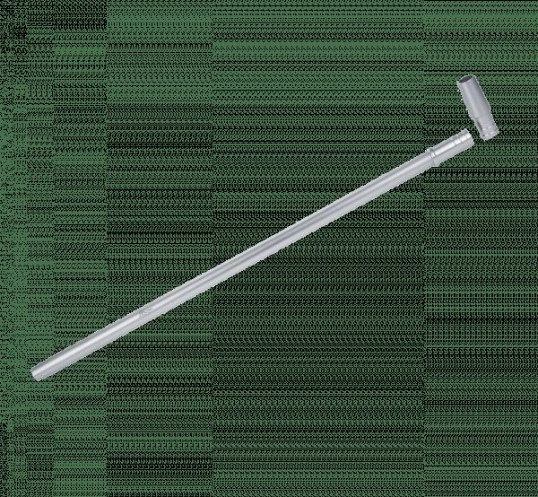 Jookah - Alu Mundstück ALK003 Slimy Fine 40cm inkl. Endstück Silver