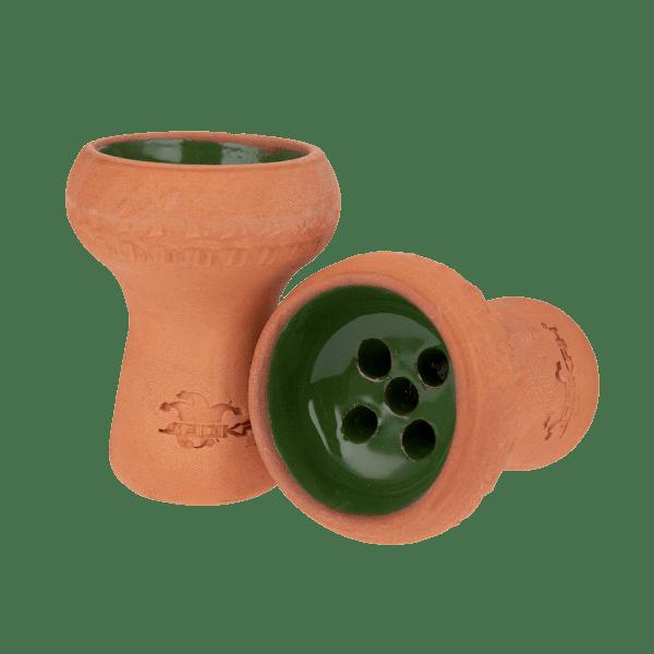 Jookah - Tonkopf Glasiert Handgemacht Grün