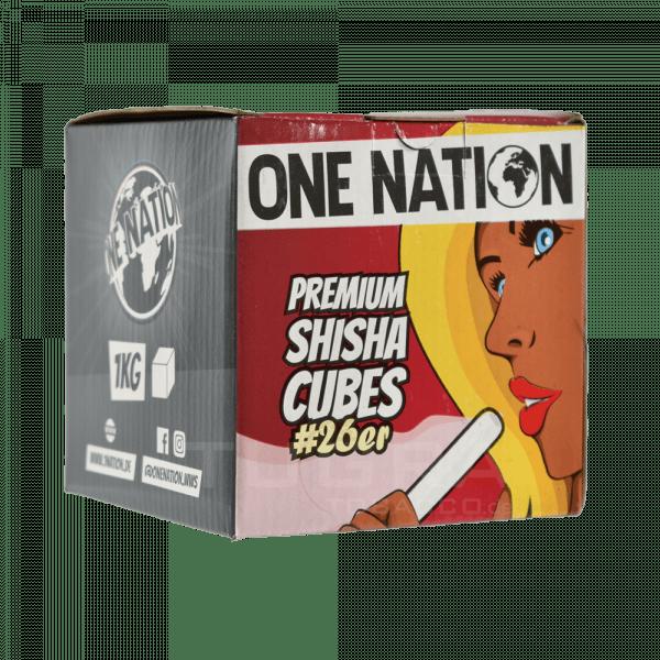 One Nation Premium Shisha Cubes #26er - 1KG