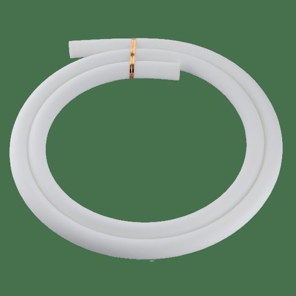 Jookah - Silikonschlauch Weiß Matt
