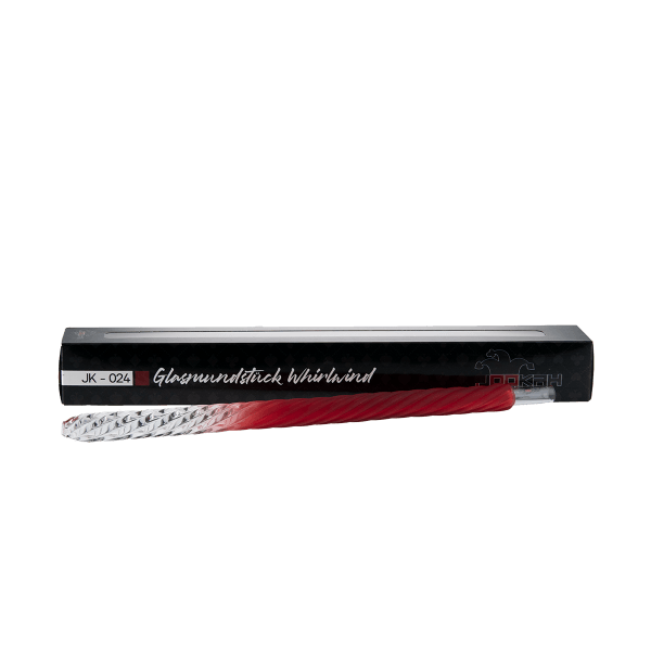 Jookah - Glas Mundstück JK-024 Whirlwind Red Matt
