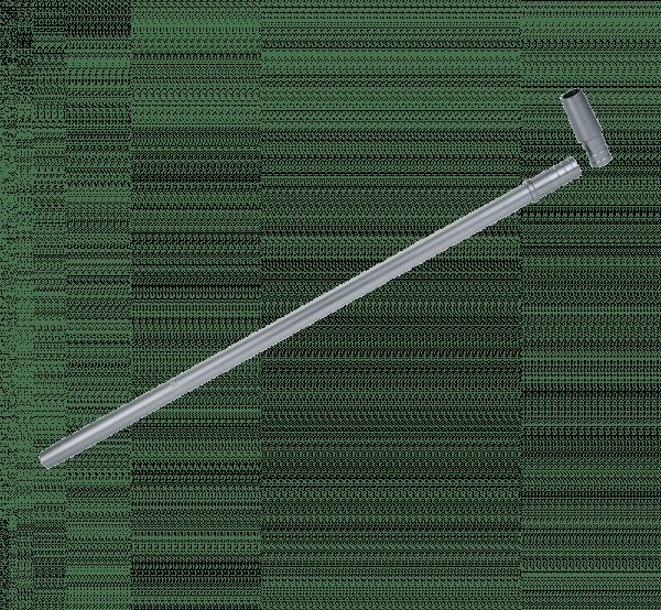 Jookah - Alu Mundstück ALK003 Slimy Fine 40cm inkl. Endstück Grau